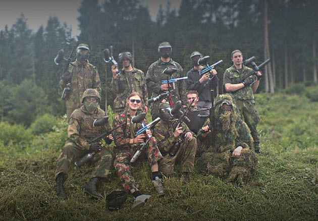 lawyer's paintball team